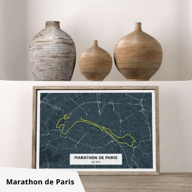 affiche marathon de paris